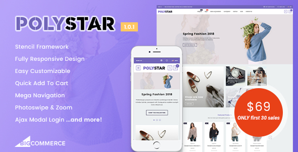 Image of Polystar - Responsive BigCommerce Theme