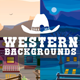 Parallax Western Backgrounds - GraphicRiver Item for Sale