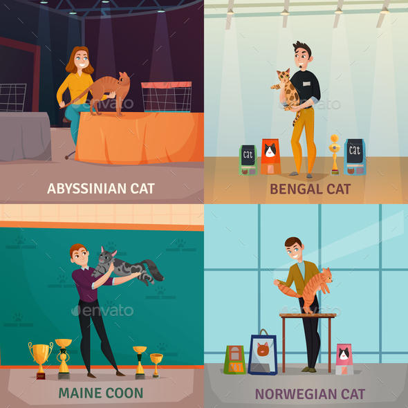 Cat Show Concept - Animals Characters