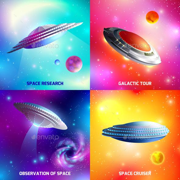 Alien Spaceship Design Concept - Miscellaneous Vectors