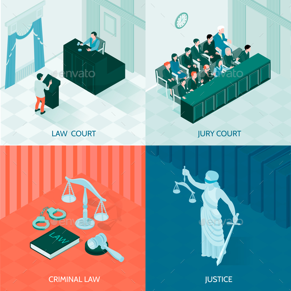 Isometric Law Design Concept - Business Conceptual