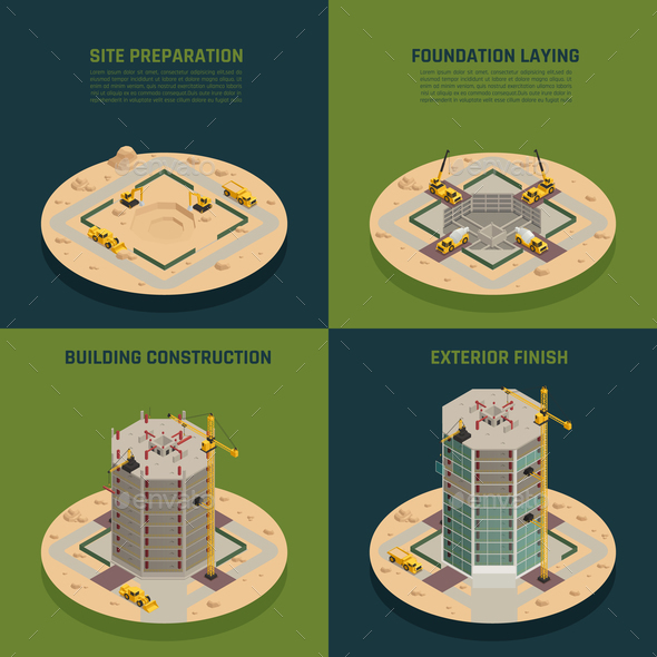 Skyscraper Construction Isometric - Buildings Objects