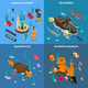 Aquarium Concept Icons Set