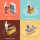 Confectionery Chef Concept Icons Set