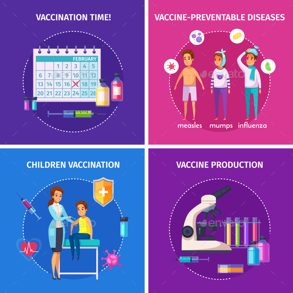 Vaccination Immunity Design Concept - Industries Business