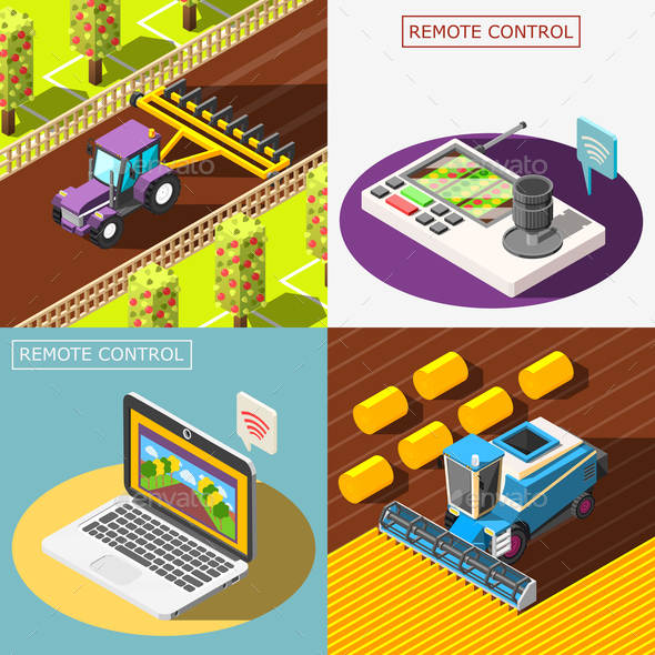 Agricultural robots 2x2 Design Concept - Industries Business