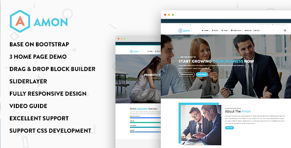 Amon - Responsive Business Drupal 8.5 Theme - Business Corporate