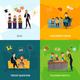Kids  Show Concept Icons Set