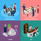 Catering Banquet Isometric Concept