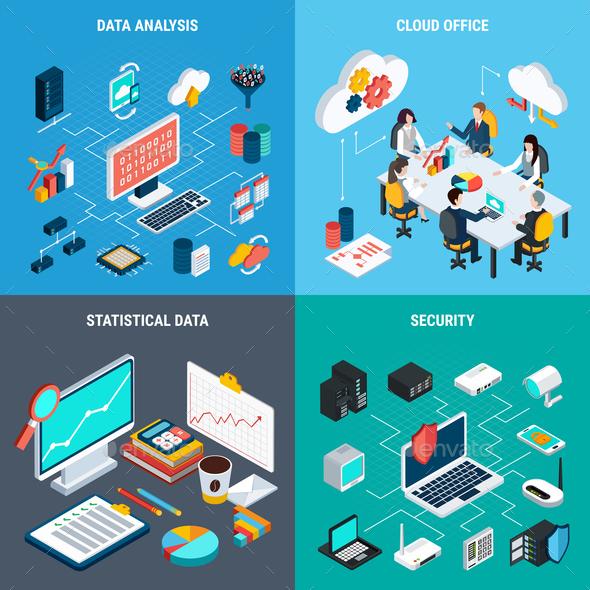 Big Data 2x2 Design Concept - Computers Technology