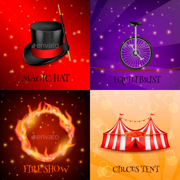 Circus Realistic Design Concept - Industries Business