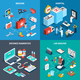 Medical Isometric 2x2 Design Concept - GraphicRiver Item for Sale