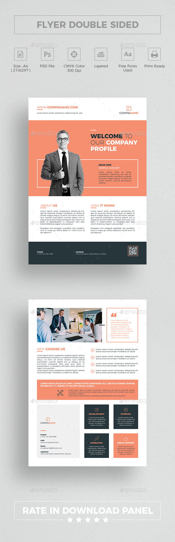 Flyer Double Sided - Corporate Flyers