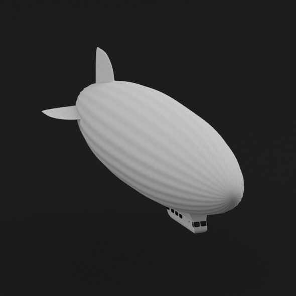 Blimp model - 3DOcean Item for Sale