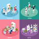 Creative Robots Isometric Concept - GraphicRiver Item for Sale