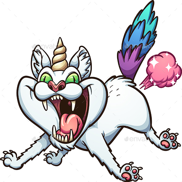 Farting Caticorn - Animals Characters