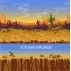 Vector Seamless Desert Landscape