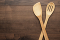 Wooden Skimmer And Spatula On The Table  - PhotoDune Item for Sale