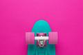 Mini Cruiser Board On Deep Pink Back  - PhotoDune Item for Sale