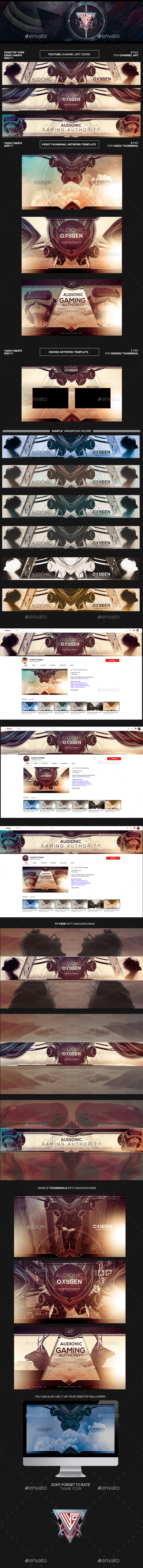 Audionic Oxygen Youtube Channel Art/Video Thumbnail and Ending Video Template - YouTube Social Media