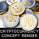 Pile of Coins, Cryptocurrency Concept 3D Render - GraphicRiver Item for Sale
