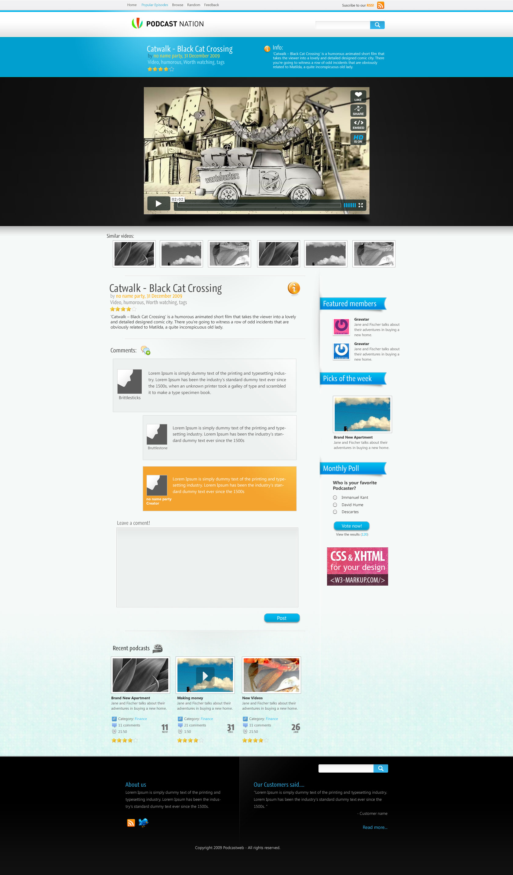 Vid A Videopodcast Template By Gyro Themeforest