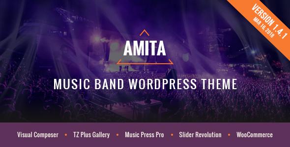 Image of AMITA - Music Band WordPress Theme