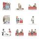 Illustration set of pet shop - PhotoDune Item for Sale