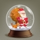 Christmas Snow Globe Realistic Vector. - GraphicRiver Item for Sale