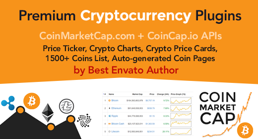 Premium Cryptocurrency Widgets, Crypto Plugins