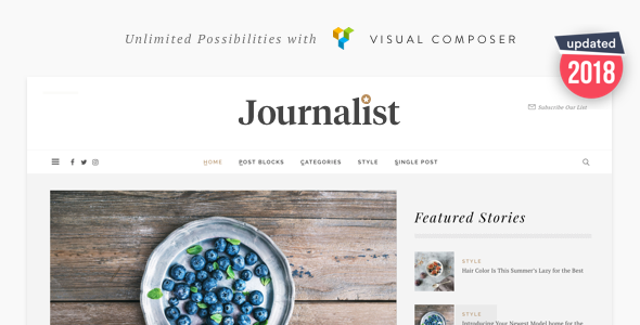 Journalist - WordPress Blog & Magazine Theme