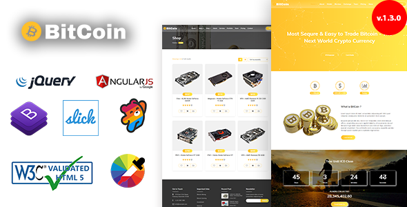 BitCoin - Crypto Currency Template - Business Corporate