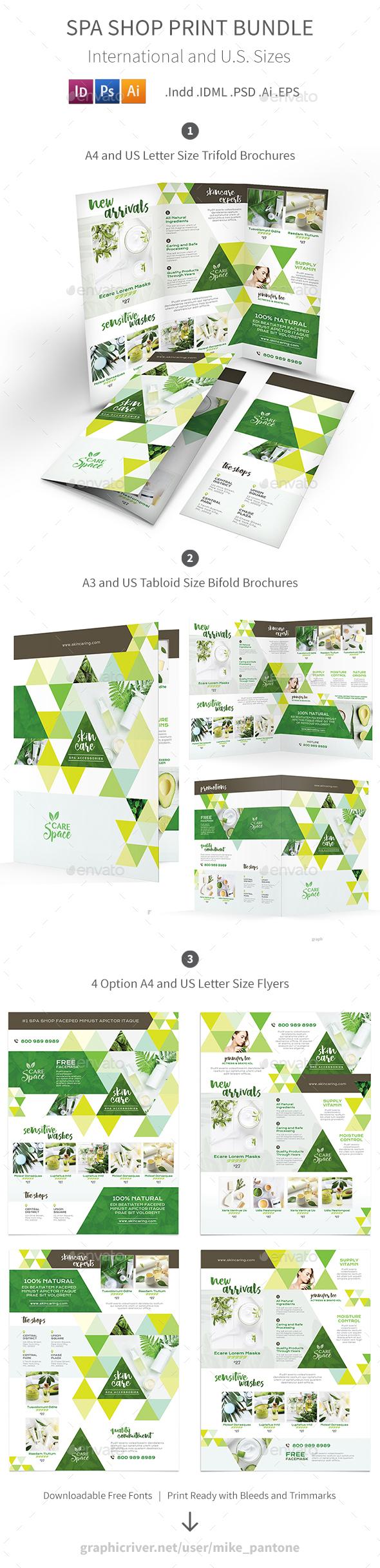 Spa Shop Print Bundle - Informational Brochures