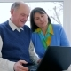 Pensioner Video Communication, Old People Talk in Skype Using a Laptop at Home - VideoHive Item for Sale