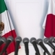 Flags of Mexico and Japan at International Press Conference - VideoHive Item for Sale