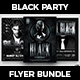 Black Party Flyer Bundle - GraphicRiver Item for Sale