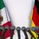 Flags of Mexico and Germany at International Press Conference - VideoHive Item for Sale