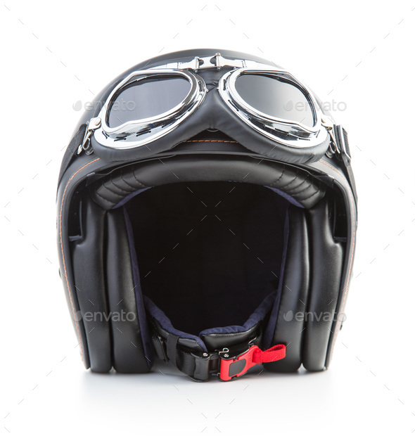 Open face motorcycle helmet. - Stock Photo - Images