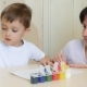 The Child and Mother Paint with Watercolor on a White Sheet of Paper. - VideoHive Item for Sale