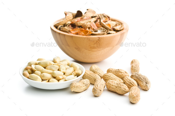 The peeled peanuts. - Stock Photo - Images