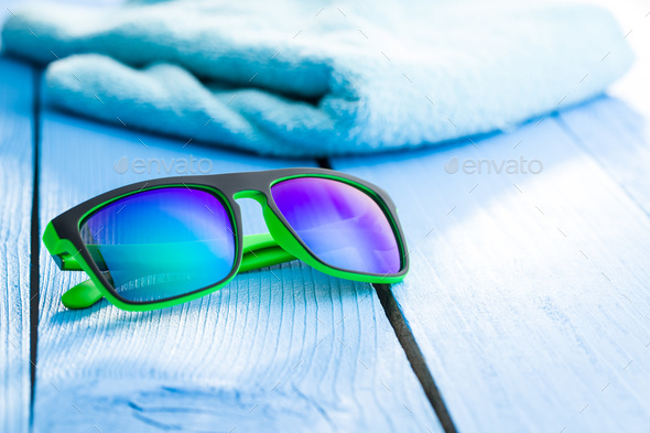 The modern sunglasses. - Stock Photo - Images