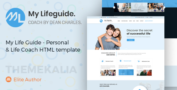 Image of My LifeGuide - Personal and Life Coach HTML template