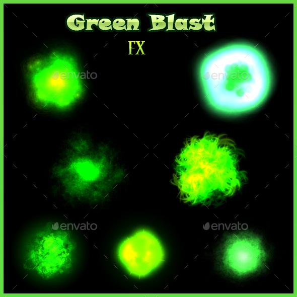 Green Blast FX - Sprites Game Assets