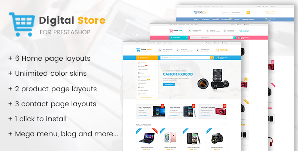 Digital Store - Prestashop Theme for Electronics, Phones, Cameras and Computers Stores - Technology PrestaShop