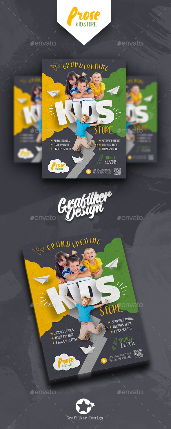Kids Store Flyer Templates - Corporate Flyers