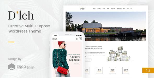 D'leh - Creative Multi-Purpose WordPress Theme - Creative WordPress