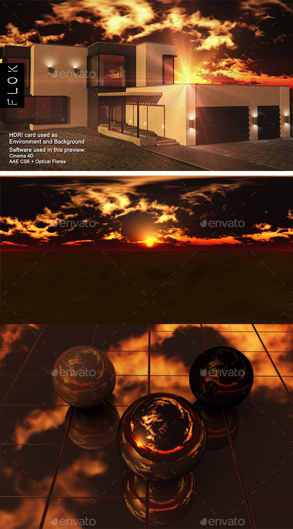 Sunset Desert 105 - 3DOcean Item for Sale