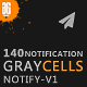 Graycells 140 Email Notification Templates