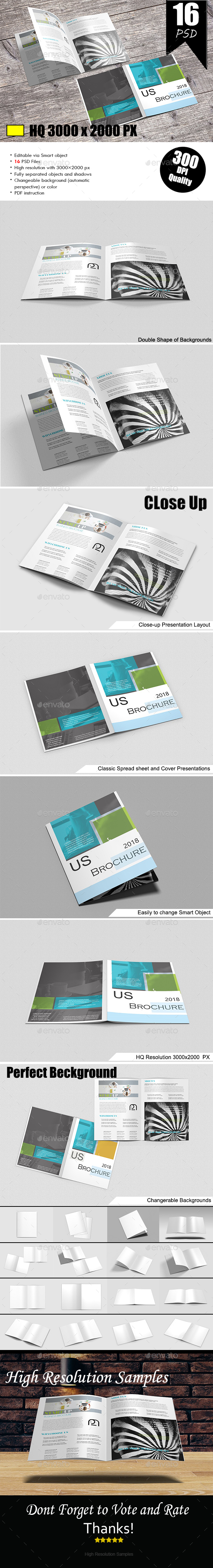 Us Letter Magazine Mock-Up - Brochures Print