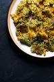 Fried tempura broccoli on a ceramic plate. Asian cuisine - PhotoDune Item for Sale